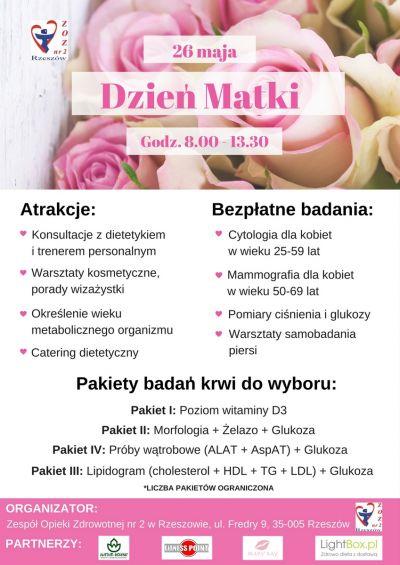 Zadbaj o swoje zdrowie w Dzień Matki