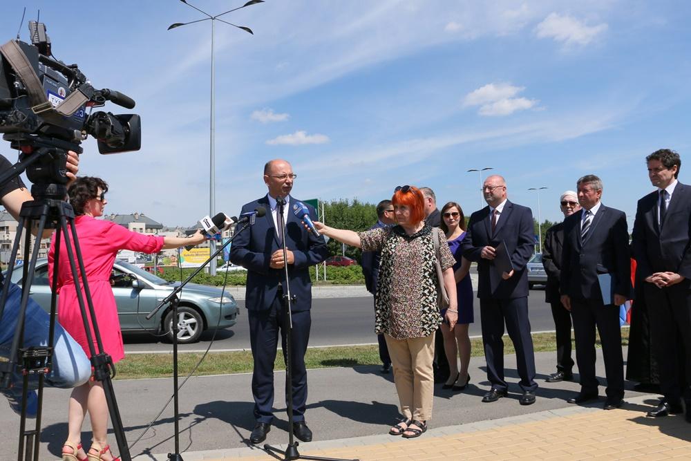 Rondo w Rzeszowie nazwano imieniem rodziny Ulmów, 7.07.2017 r.