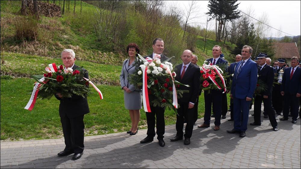 Świadek Historii na Gminnych Obchodach Dnia Katyńskiego w Wiśniowej, 15.04.2018 r.