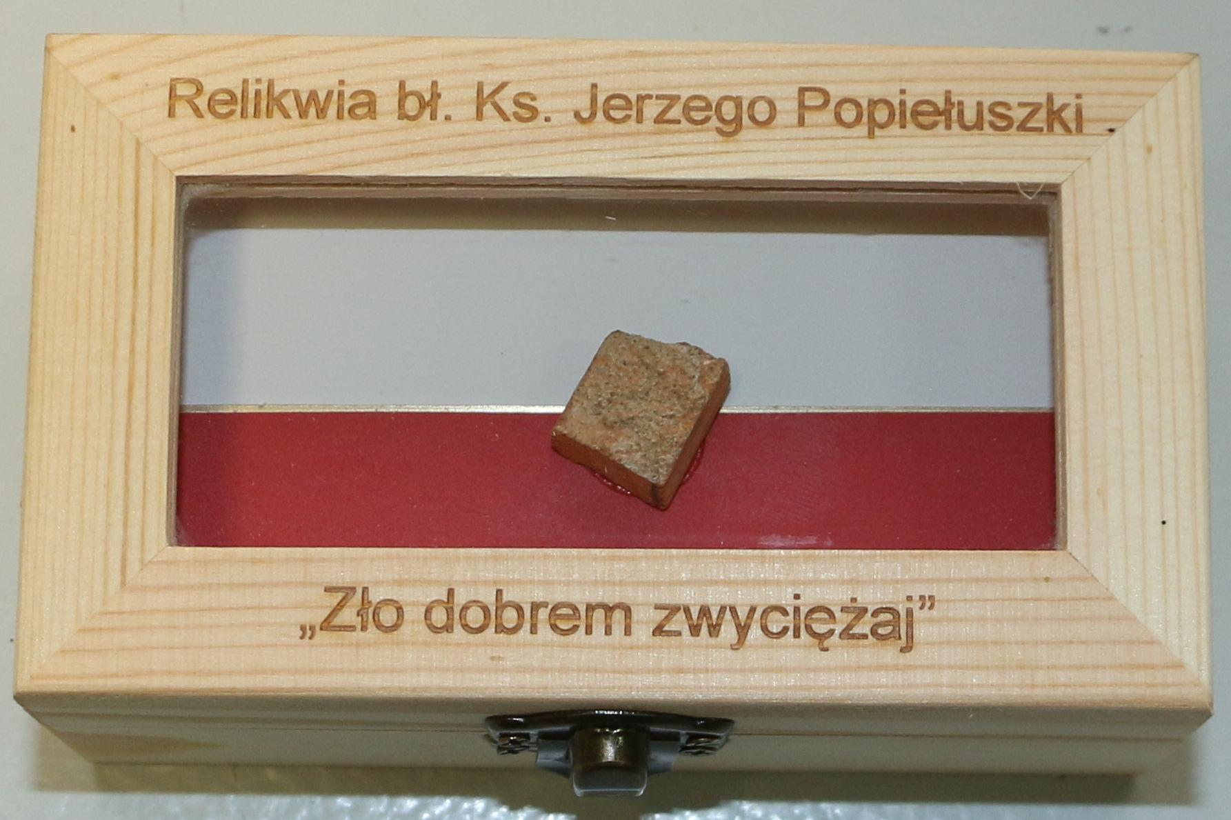 Relikwia bł. ks. Jerzego Popiełuszki
