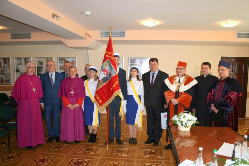 Otwarcie roku akademickiego oraz poświęcenie sztandaru w Brzuchowicach na Ukrainie 30.09.2018 r
