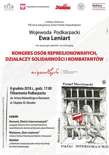 8 grudnia 2018 r. Kongres Osób Represjonowanych, Działaczy Solidarności i Kombatantów.