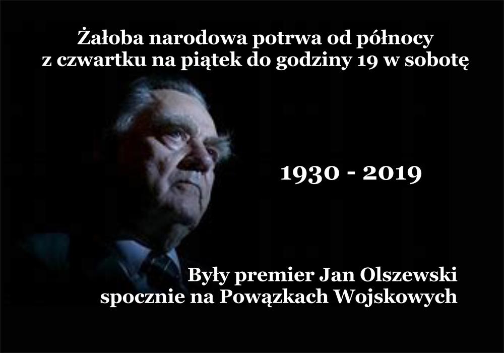 Były premier Jan Olszewski spocznie na Powązkach Wojskowych