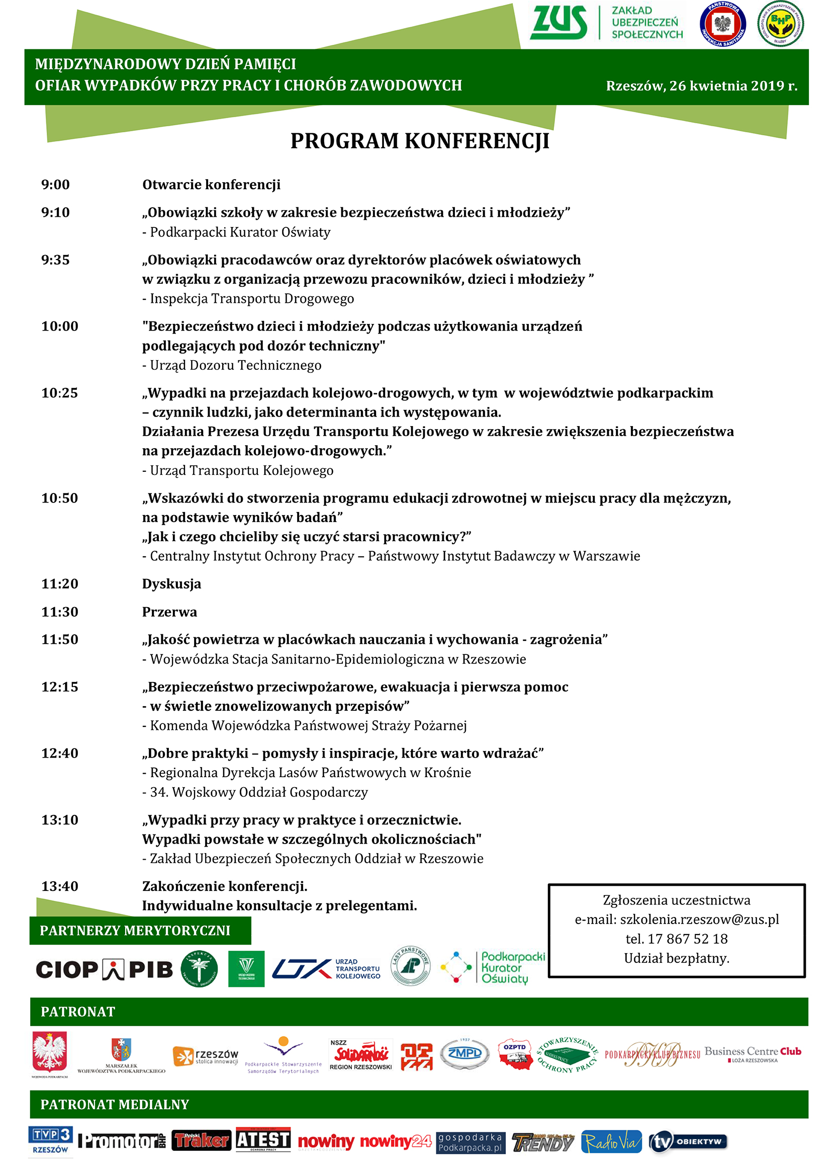 Program Konferencji 26.04