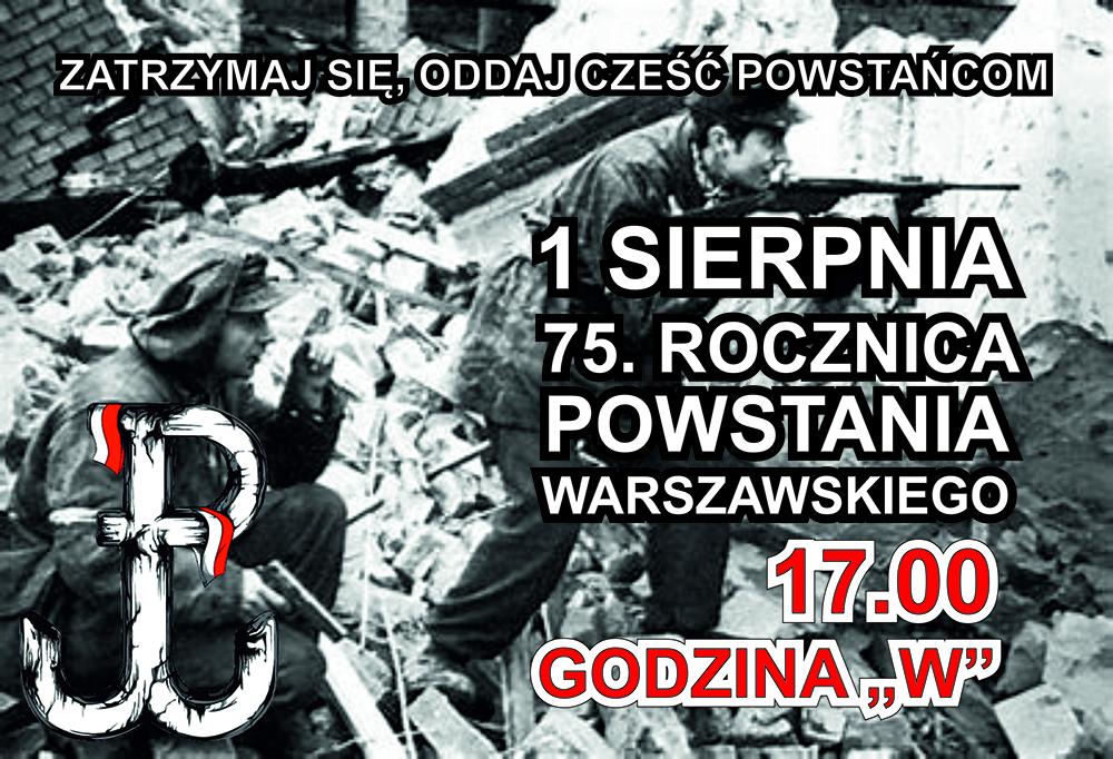 1 sierpnia 75. rocznica wybuchu Powstania Warszawskiego