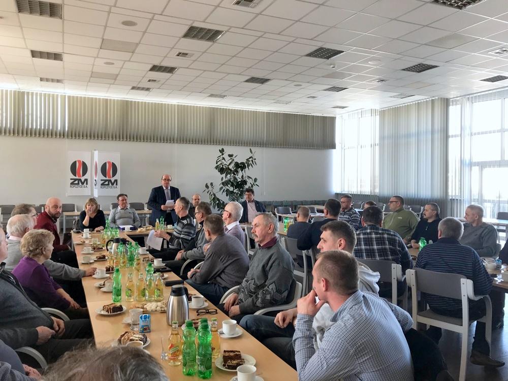 Wystąpienie prezesa Zakładów Magnezytowych S.A w Ropczycach w ramach WZD OM NSZZ Solidarnosc. 22.03.2018