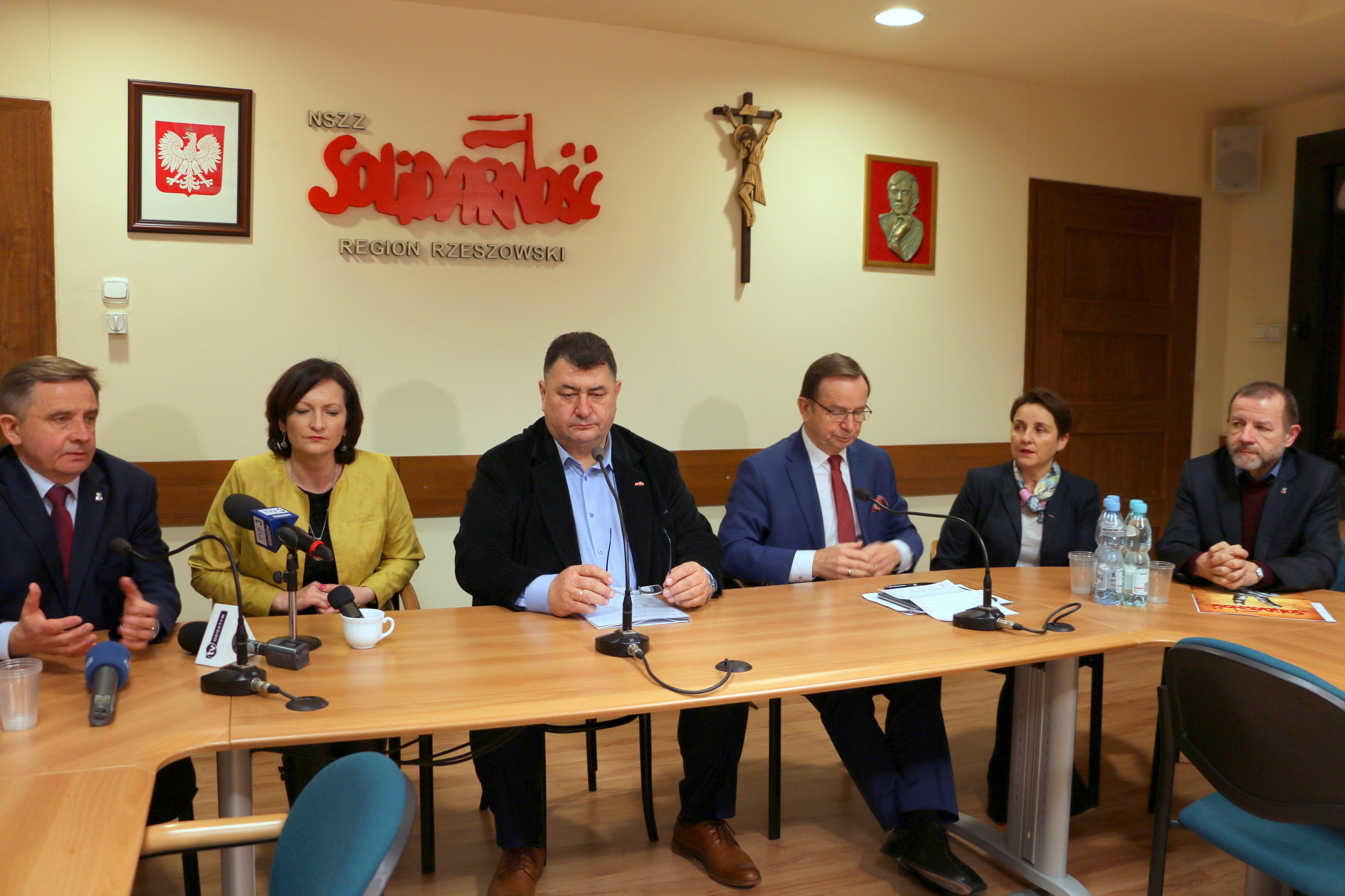 Konferencja prasowa rzeszowskiej Solidarności 4.02.2019 r.