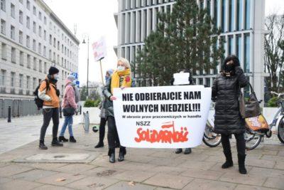 Protest Solidarności przeciwko handlowi w niedziele