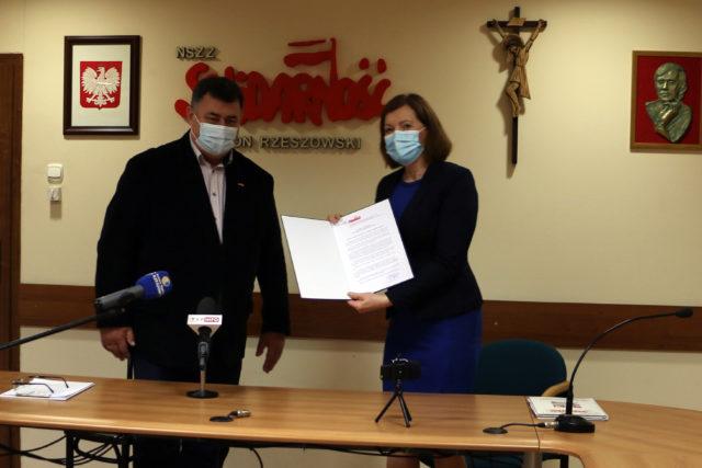 """Rzeszowska """"Solidarność"""" poparła Ewę Leniart jako kandydata na Prezydenta Rzeszowa"""